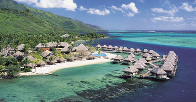 Overwater Bungalows in the South Pacific